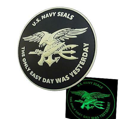 the only easy day PVC glow dark navy seals seal team aufnäher hook patch