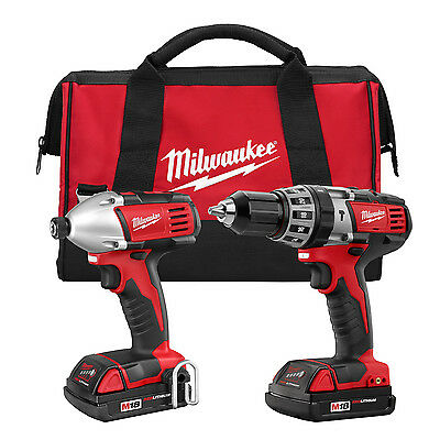Milwaukee 2697-82 Recon 2697-22 18V M18 HammerDrill-Impact Driver Combo Kit