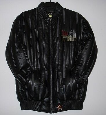 Size L Hollywood  The Godfather Don Corleone  Hand Made Lambskin Leather Jacket