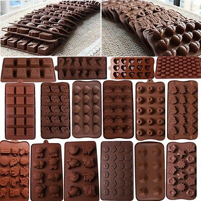 50 Chocolate Candy Silicone Bakeware Mould Sugaraft paste Cake Decorating Mold