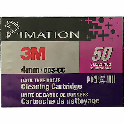 3M IMATION 4mm DDS-CC DATA TAPE DRIVE CLEANING CARTRIDGE LOT OF 5