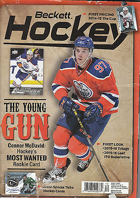 Beckett Hockey Card Monthly Price Guide Dec 2015 Connor Mcdavid Young Gun Cover