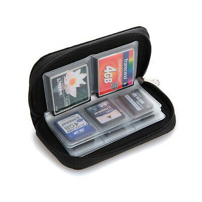 Memory Card Carrying Case Holder Pouch Bag 8 Pages 20 Slots for SD SDHC microSD