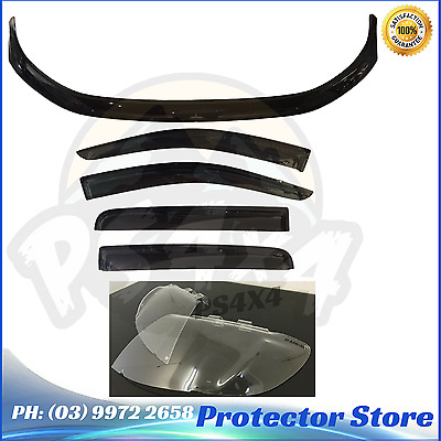 FORD RANGER PX 2011-2015 dual Cab BONNET PROTECTOR,WEATHER SHIELDS&light Covers