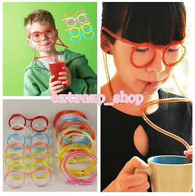 1* Fun Drinking Unique Flexible Novelty Soft Glasses Straw Glasses Drinking Tube