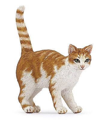 FREE SHIPPING | Papo 54031 Orange & White Tabby Cat Toy Model - New in Package