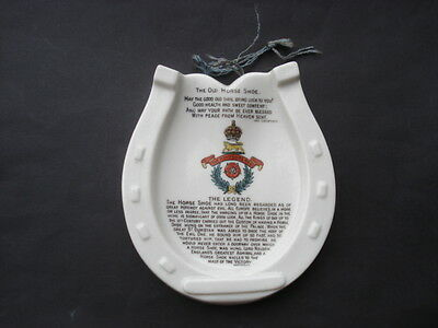 Scarce W.h.goss The Hampshire Regiment Crested The Old Horse Shoe Wall Plaque