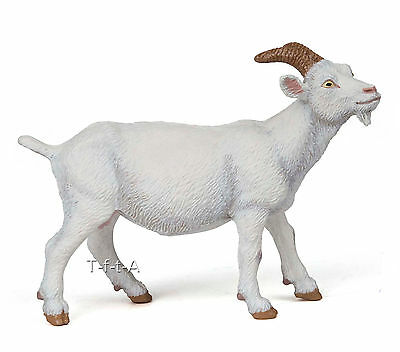 FREE SHIPPING | Papo 51144 White Nanny Goat Farm Animal Model- New in Package