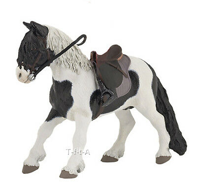 FREE SHIPPING | Papo 51117 Pinto Pony with Saddle Toy Horse - New in Package
