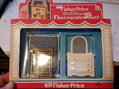 Fisher Price Doll House Decorator Set Bedroom #255 New In Box 1982