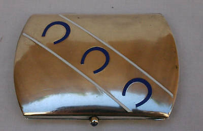 19 C European 900 Silver Enameled Horse Shoe Box