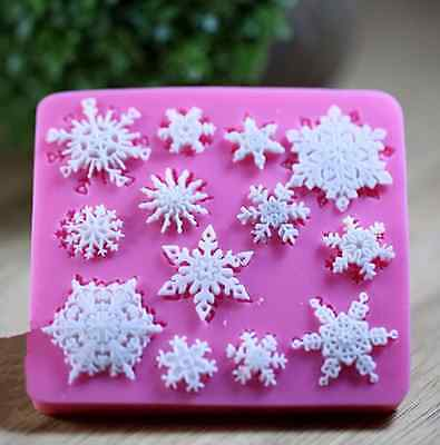Snowflake Silicone Resin Mould Frozen Party Cakes Decor Sugarcraft Fondant Mould