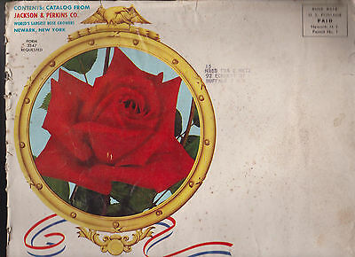 Jackson & Perkins 1961 Rose Catalog Americana Newark NY w Envelope