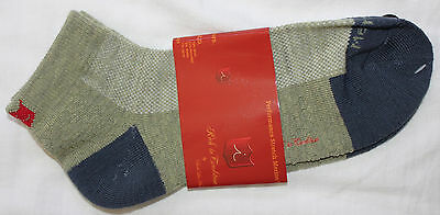 NEW ILIAC Mens Wool GOLF Exercise Ankle PERFORMANCE Socks Olive Green - One Size
