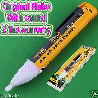 Fluke 1AC II VoltAlert Non-Contact Voltage Detector Pen Tester W/sound 200~1000v