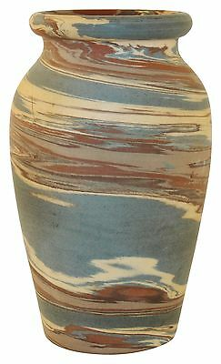 Niloak Pottery Mission Swirl Classically Shaped Rolled Rim Vase