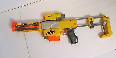 Nerf N-Strike Recon Cs-6 Dart Gun-Laser Light/shoulder Stock/barrel Extension!!
