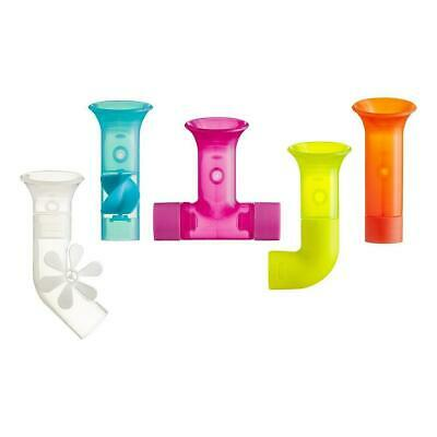 Boon Bath Fun Toys Five Pieces Pipes Multicolour for Babies Toddles Big Kids