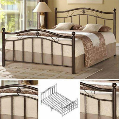 queen metal bed frame bedroom furniture headboard footboard rails slats platform