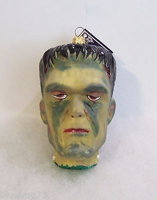 Slavic Treasures Ornament 2008 Flat Top Frankenstein Hand Blown Glass Poland S6