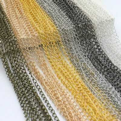 1/5/100M Silver/Gold Plated Cable Open Link Iron Metal Chain DIY Findings Making