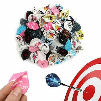 24 sets 72pcs 2D Cool Dart Flights Nice Darts Tail Wing Professional Colorful