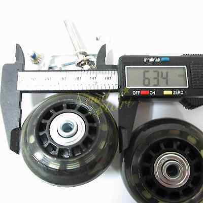 2 Set Luggage Suitcase Replacement Wheels Axles Deluxe Repair OD 63mm New