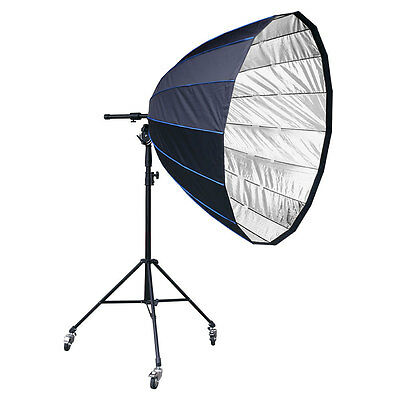 LIFE of PHOTO Para-Softbox 150 cm f. BRONCOLOR PULSO mit Stativ, Fokussiersystem