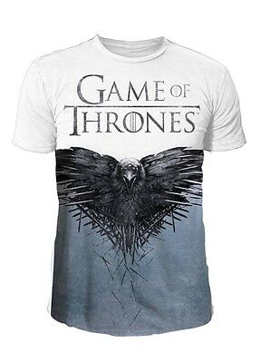 Game of Thrones Herren Logo T-Shirt - Cover Sublimation (Weiss) (S