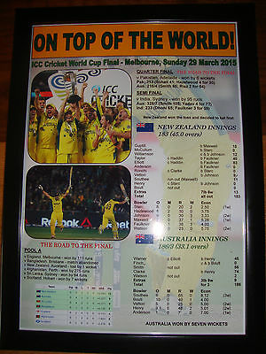 Australia 2015 ICC Cricket World Cup Winners - framed print