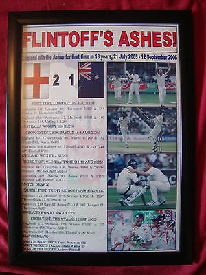 England 2005 Ashes winners - framed print