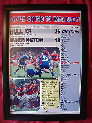 Hull KR 26 Warrington Wolves 18 - 2015 Challenge Cup semi-final - framed print