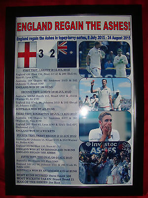 England 2015 Ashes winners - framed print