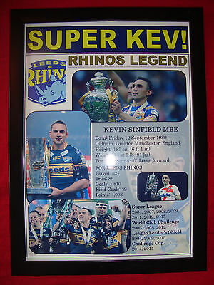 Leeds Rhinos treble 2015 - Kevin Sinfield tribute - framed print