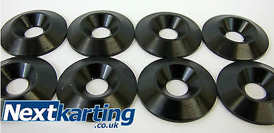 Kart Alloy CSK 30 x 5 x 8mm Seat Washers M8 Black  x 8 - Tillett - NextKarting