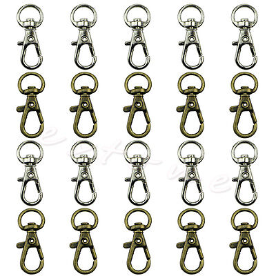 10Pcs Swivel Trigger Clips Snap Hooks Lobster Clasp Keychain Bag DIY Craft Key