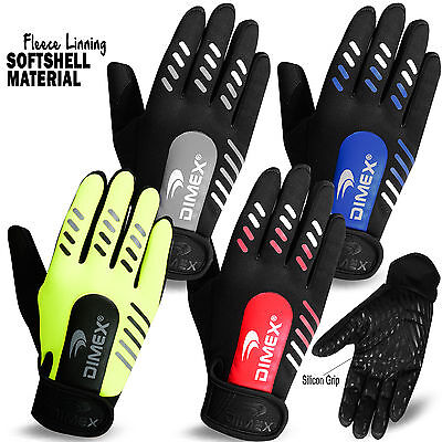 Cycling Gloves Full Finger Soft Shell with Fleece Linning MTB Bike Silicon Grip