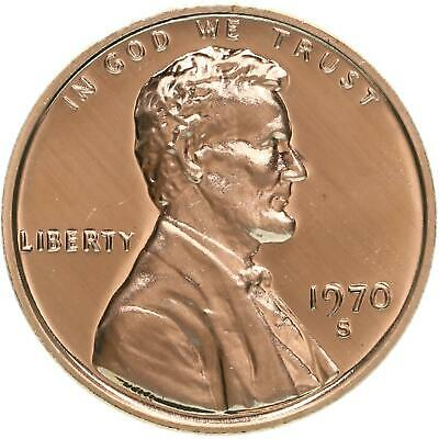 1970 S Lincoln Memorial Cent Gem Proof Large Date Penny