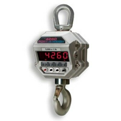 10,000 LB x 2 LB MSI-4260B Port-A-Weigh NTEP Hanging Digital Crane Hoist Scale