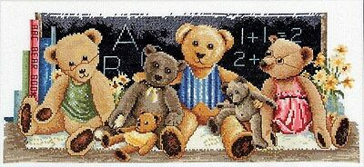 Classroom Teddies -  Cross Stitch Chart - Country Threads
