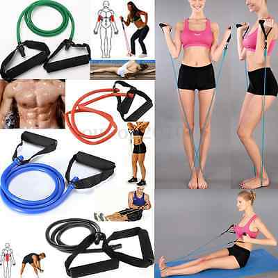 Brand New Exercise Latex Resistance Bands Tube Workout Gym Yoga Fitness Stretch