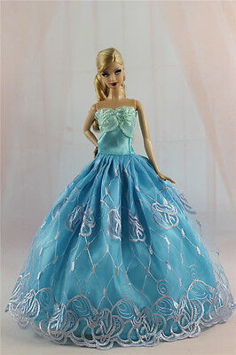 Blue Fashion Princess Party Dress/Evening Clothes/Gown For 11.5in.Doll S330