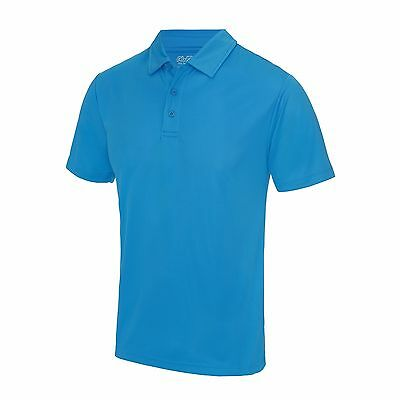 AWDis Cool Wicking Breathable Polo Shirt Gym Training Running Sports Top JC040