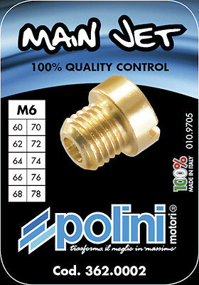 polini dellorto 6413 type 6mm main jet pack 10 of 80 to 98 PSNTUNING FREE POST