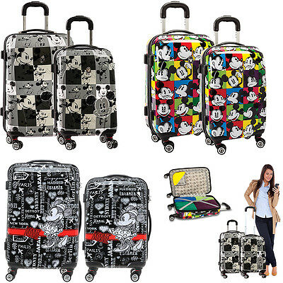 Trolley MICKEY MINNIE MOUSE Fabrizio Koffer 4 Rollen Trolly Reisekoffer AUSWAHL