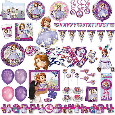 Disney's Sofia The First Princess Children's Party Supplies Tableware Listing