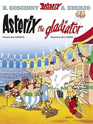 Asterix The Gladiator, Albert Uderzo Hardback Book The Cheap Fast Free Post