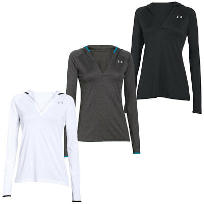 Under Armour 2016 Womens Tech Longsleeve Hoody Hoodie Sweatshirt Hooded Jumper