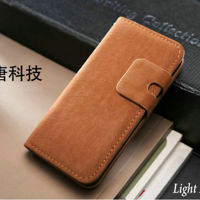 New Flip Case Cover Wallet Leather For Apple iPhone 4 5 5S Free Screen Protector
