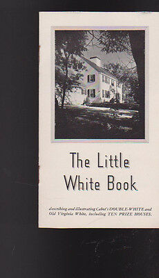Cabot's Double-White Paint Booklet 1944 The Little White Book